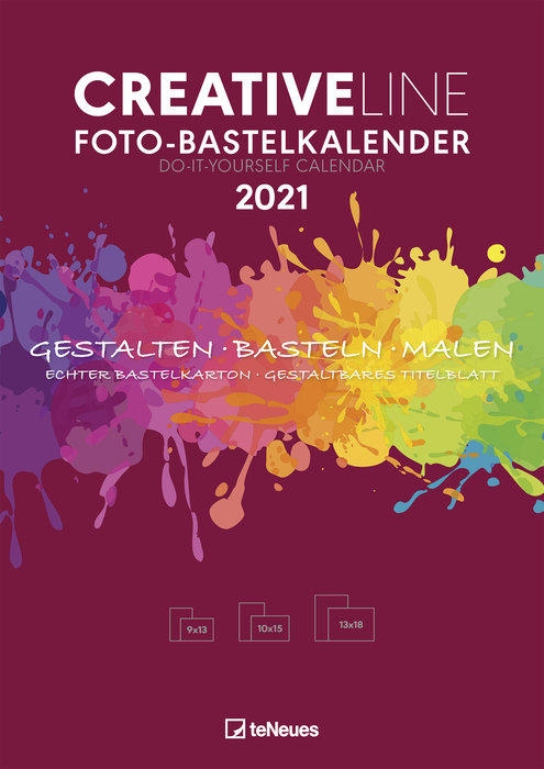 Calendario 2021 creative line red new 21x29.7