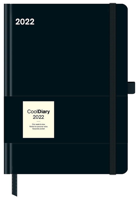Agenda anual 2022 black/black cool diary 16x22