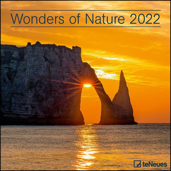Calendario 2022 wonders of nature 30x30 teneues