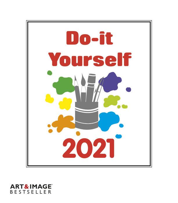 Calendario 2021 do-it-yourself white 24 x 31 / 21 x 24