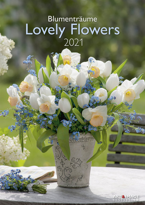 Calendario 2021 lovely flowers 29,7x42