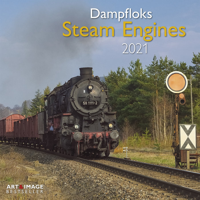 Calendario 2021 steam engines 30x30