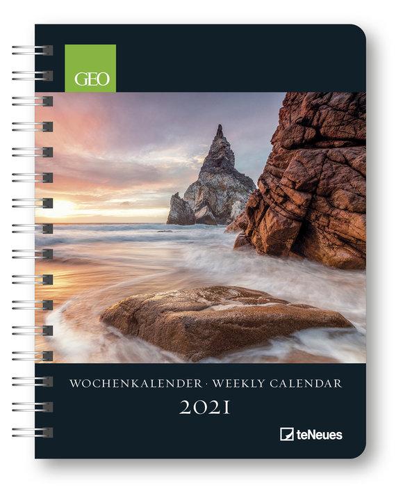 Agenda anual 2021 geo weekly calendar  new 16.5x21.6