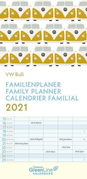 Planificador 2021 vw bulli 22x45