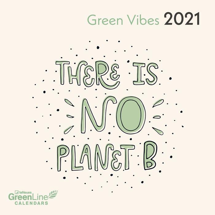 Calendario 2021 green vibes new 17.5x17.5