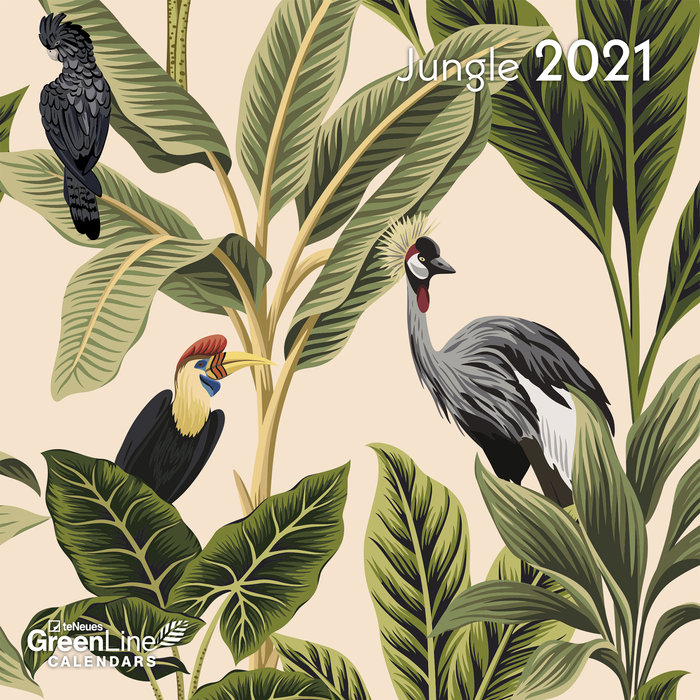 Calendario 2021 jungle new 17.5x17.5
