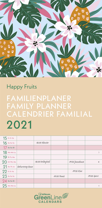 Planificador 2021 happy fruits new 22x45