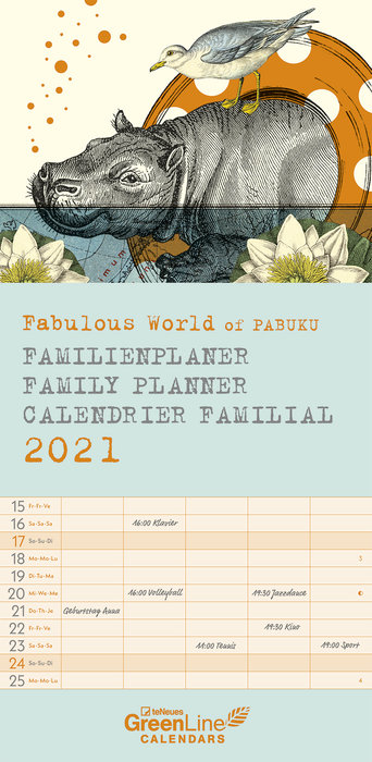 Planificador 2021 fabulous world of pabuku new 22x45