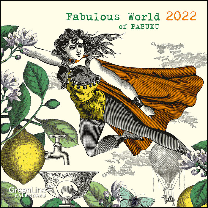 Calendario 2022 fabulous world of pabuku 30x30 teneues