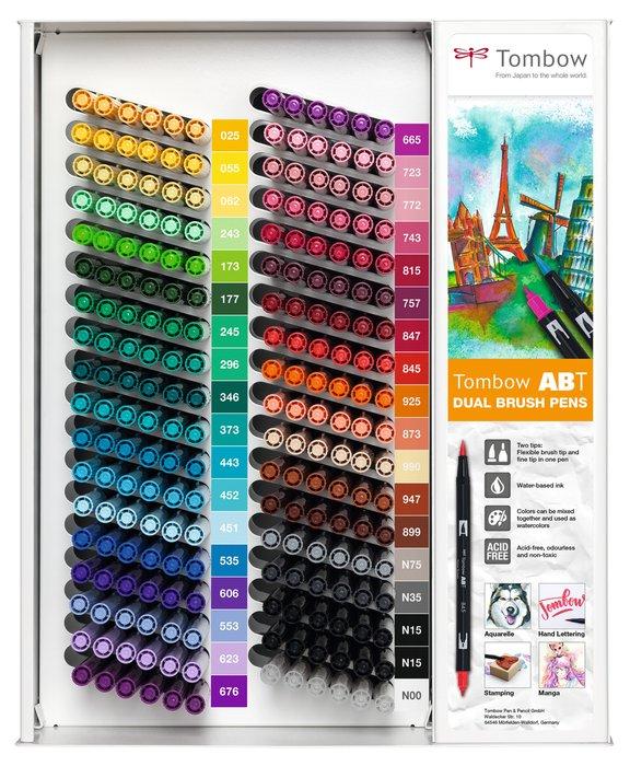 Expositor 216 rotulador dual brush 35 colores surtidos