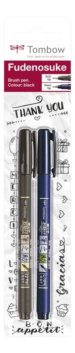 Rotulador tombow fudenosuke blister 2 uds punta elastica dur