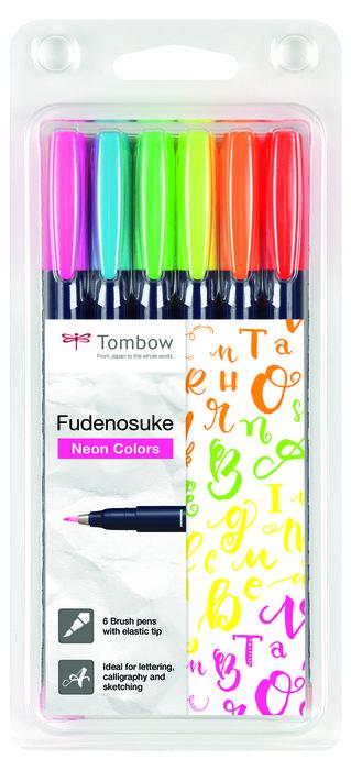 Rotulador tombow fudenosuke base agua punta elastica dura 6