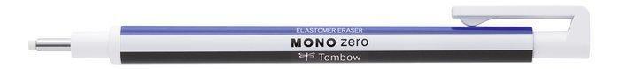 Portagoma tombow mono zero punta redonda 2,3 mm blanco/azul/