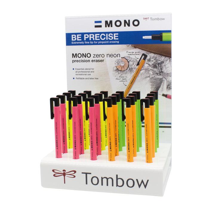 Portagomas tombow mono zero neon punta redonda colores surti
