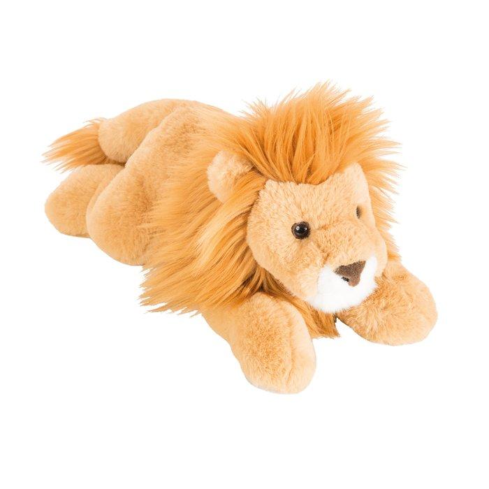 Peluche leon super suave  tumbado 33 cm
