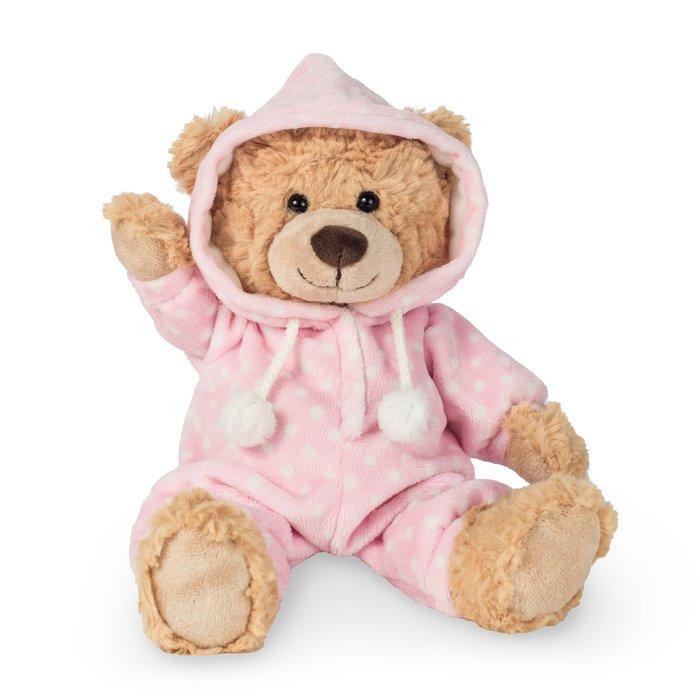 Peluche oso con pijama rosa 30 cm