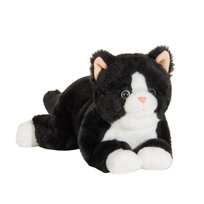 Peluche gato super suave tumbado  30 cm