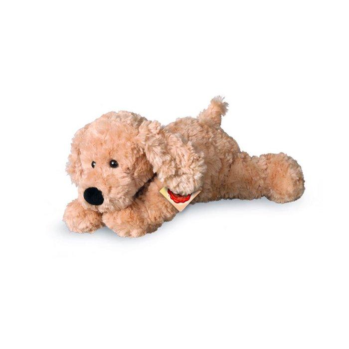 Peluche perro suave beige 28 cm