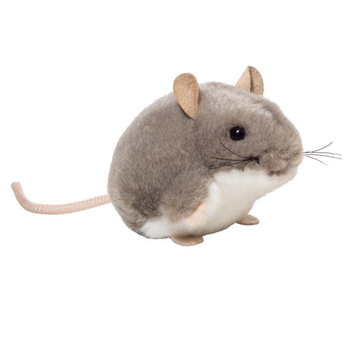 Peluche raton gris 9 cm