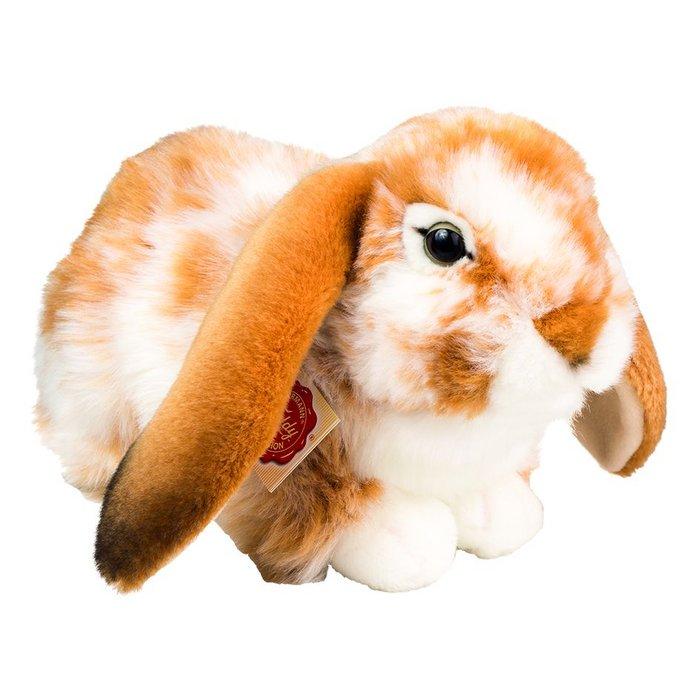 Peluche conejo lop marron y blanco 30 cm