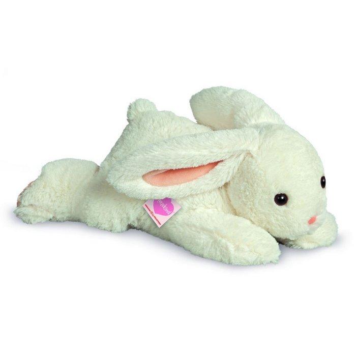 Peluche conejo crema tumbado 30 cm