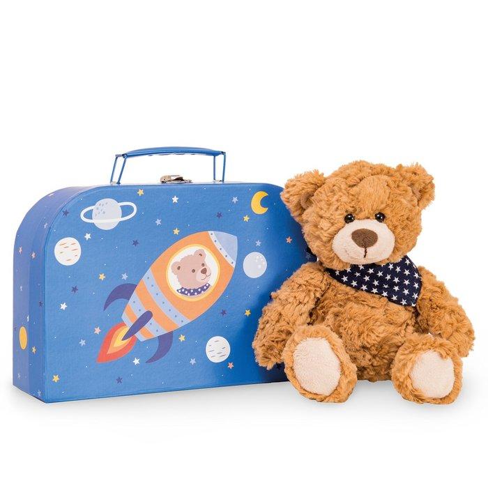 Peluche teddy ferdi 26 cm en maletin