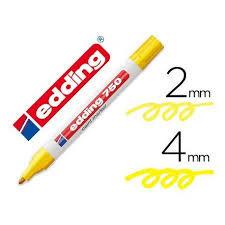 Marcador edding 750 amarillo
