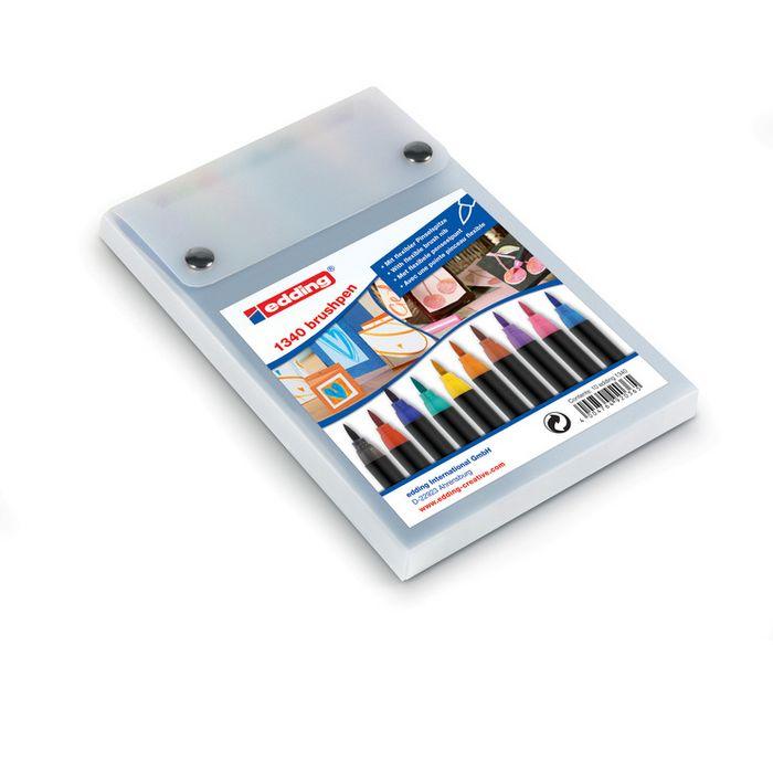Rotulador edding 1340 punta pincel 10 colores