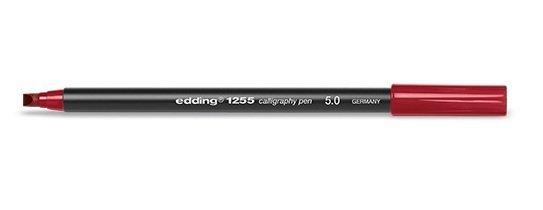 Rotulador edding caligrafia carmesi 5.0 rojo