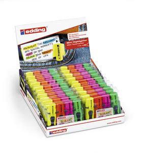 Marcador edding mini highlighter blister 4 unidades