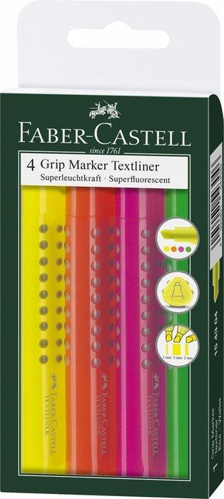 Rotulador grip textliner estuche 4 colores surtidos 154304