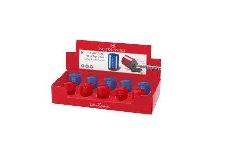 Afilalapices grip 2001 mini color azul y rojo