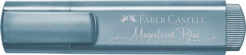 Marcador faber textliner 46 metalico azul
