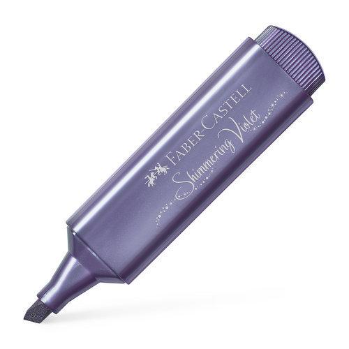 Marcador faber textliner 46 metalico violeta