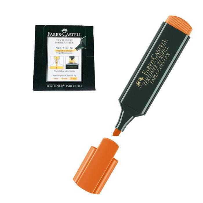 Rotulador fluor textliner faber naranja