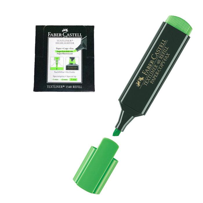 Rotulador fluor textliner faber verde