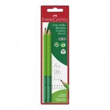 Blister con 2 lapices de grafito jumbo grip 2001-b verde cla