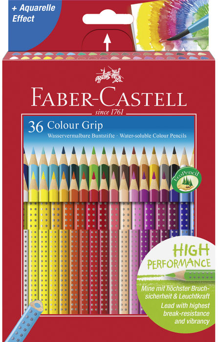Lapiz faber grip 36 colores surtidos caja carton