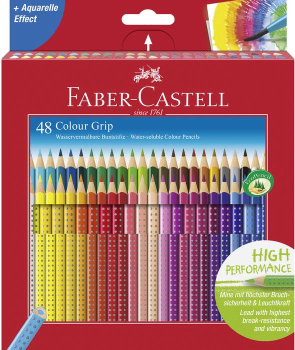 Lapiz faber grip 48 colores surtidos caja carton