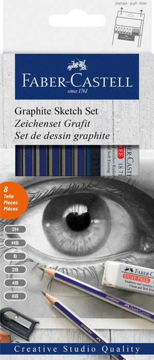 Set grafito creative studio 6 graduaciones +goma+afilalapiz