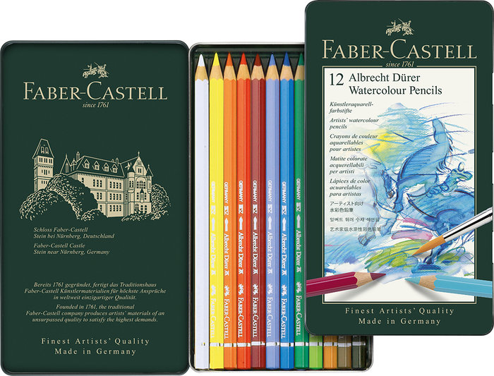 Lapiz faber castell albrecht durer acuarelables 12 colores s