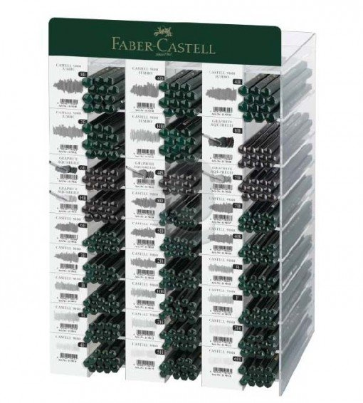 Expositor 324 lapices grafito serie 9000 faber castell