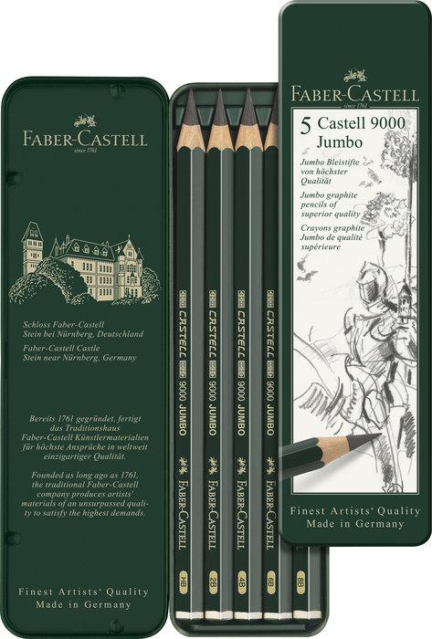 Lapiz faber castell 9000 jumbo caja 5 uds