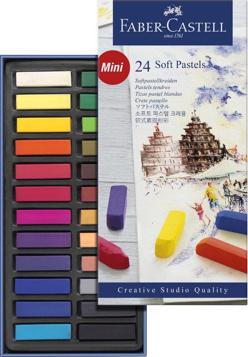 Tiza pastel blando faber castell 24 colores surtidos