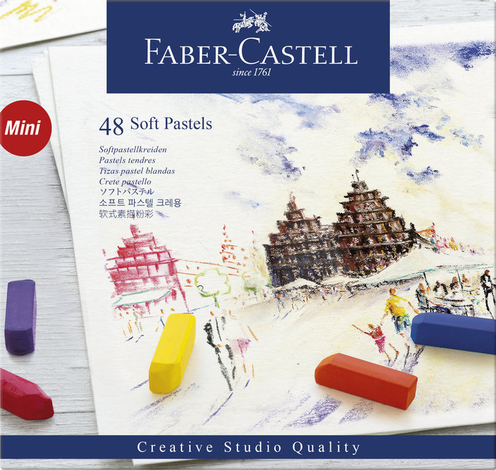 Tiza pastel blando faber castell 48 colores surtidos