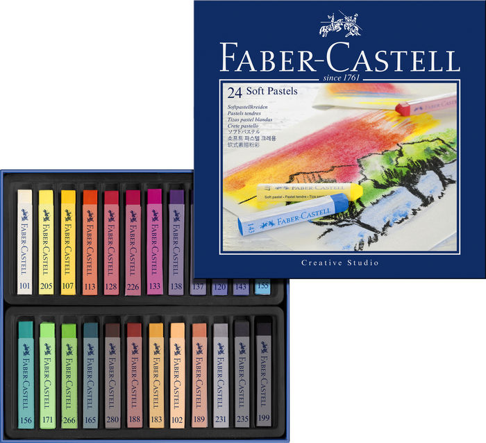 Tizas pastel blando faber castell 24 colores surtidos
