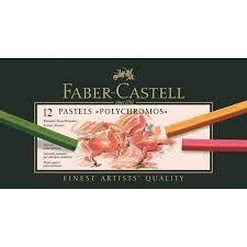 Tizas pastel polychromos faber castell 12 colores surtidos
