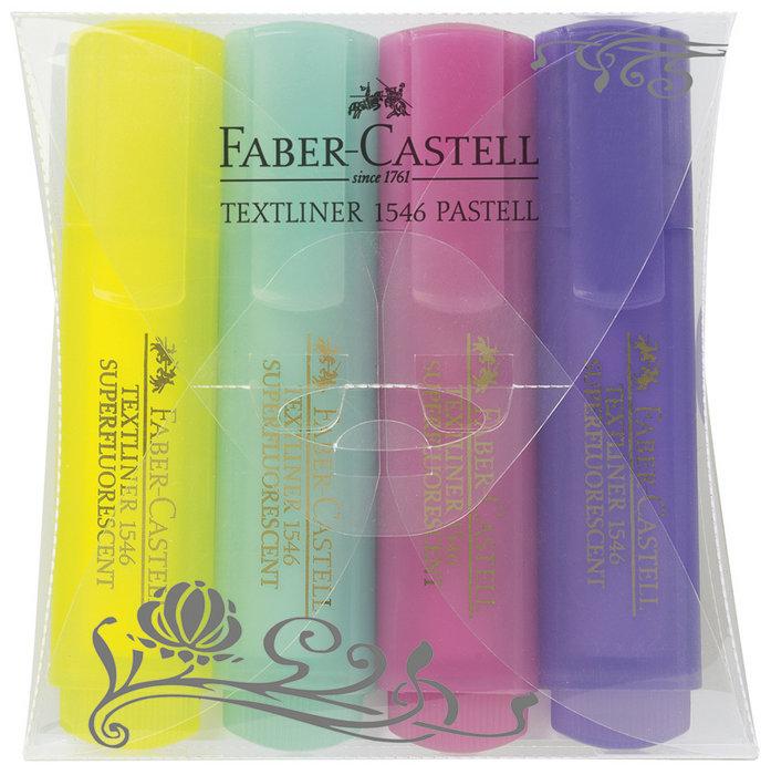 Marcador textliner 1546 pack 4 colores pastel surtidos