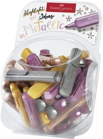 Marcador faber textliner 46 metalicos colores metalicos surt
