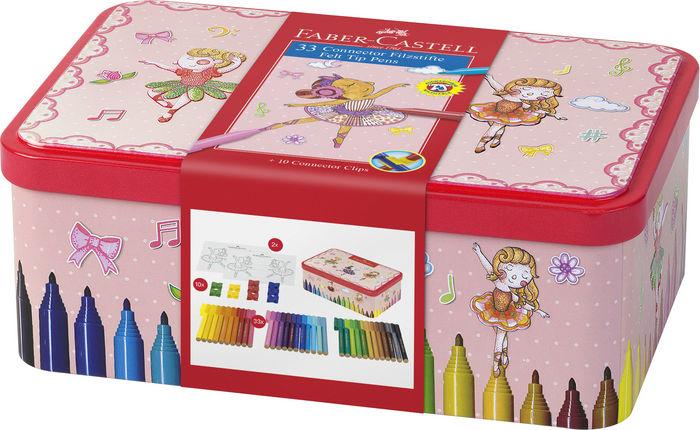 Rotulador faber connector 33 colores y plantillas bailarina